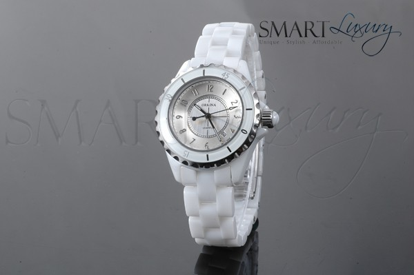 Ladies-Atomic-Luxury-Ceramic-Scratchproof-Band-Analogue-Watch-Ice-White