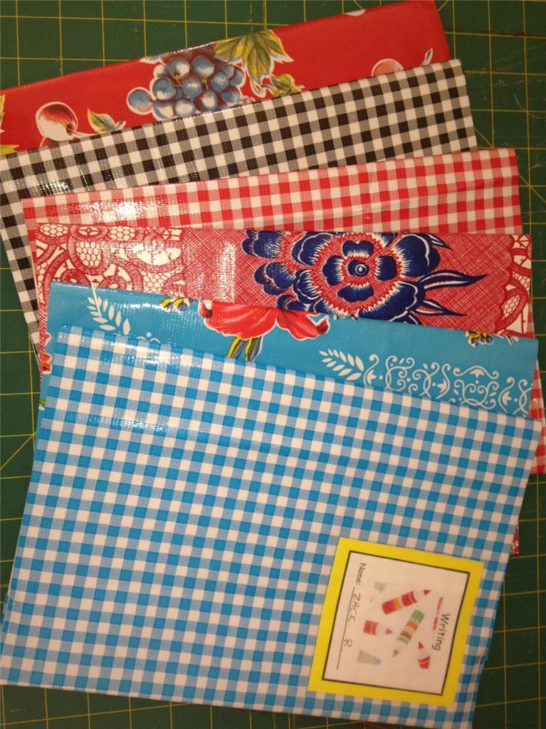 Easy Fabric Book Cover Patterns : Reusable school book cover sewing pattern tutorial
