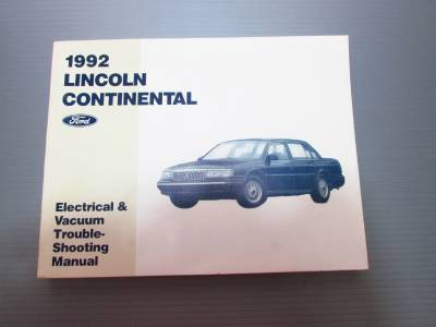 1992 lincoln continental service manual and electrical vaccuum manual ebay. Black Bedroom Furniture Sets. Home Design Ideas