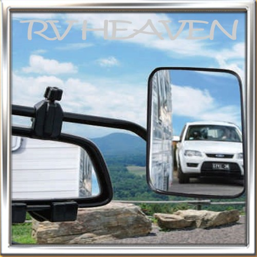1x-Towing-Mirror-Easy-Fitting-truck-towing-caravan-Trailer-Premium-Adjustable