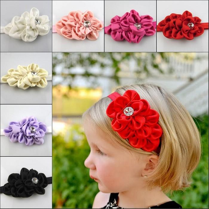 Цветок для повязки из лент своими руками