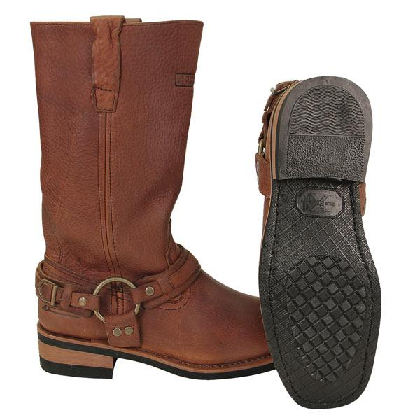 womens brown x element crushed harness boots