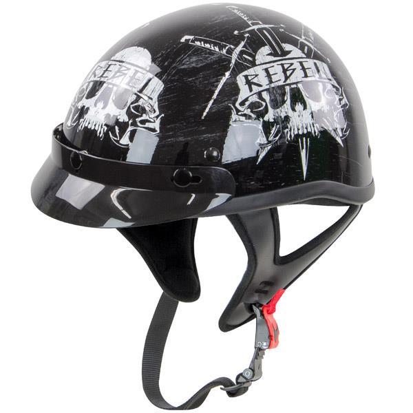 Rebel R100 Skull Half Helmet size S | eBay