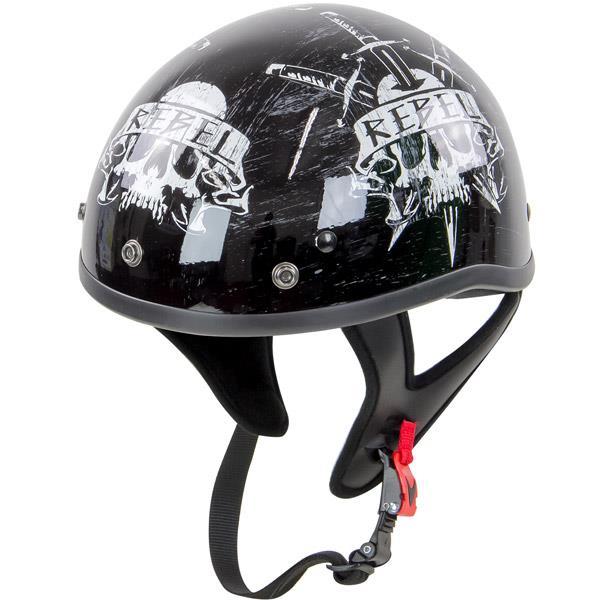 Rebel R100 Skull Half Helmet size M | eBay