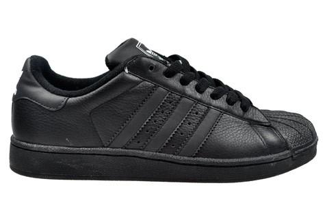 adidas superstar 2 black leather