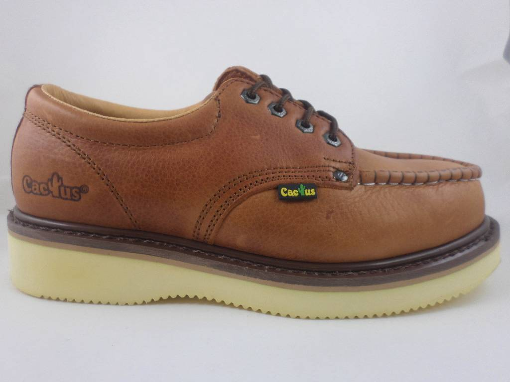 Cactus Work Shoes Low Top 422M Light Brown Real Leather ...