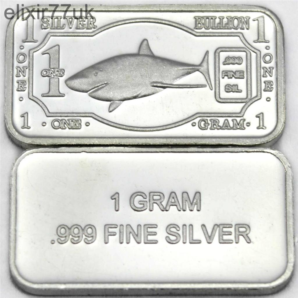 Choice Of 12 One Gram Pure Fine 999 Solid Silver Animal