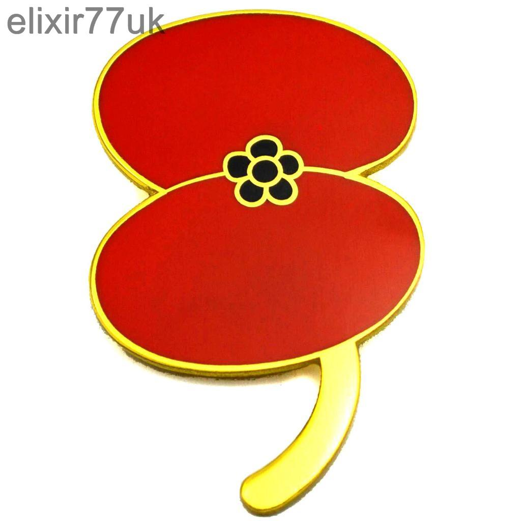 RED-POPPY-FLOWER-LAPEL-PIN-BADGE-BROOCH-REMEMBRANCE-DAY-UK-BROACH-LEST-WE-FORGET