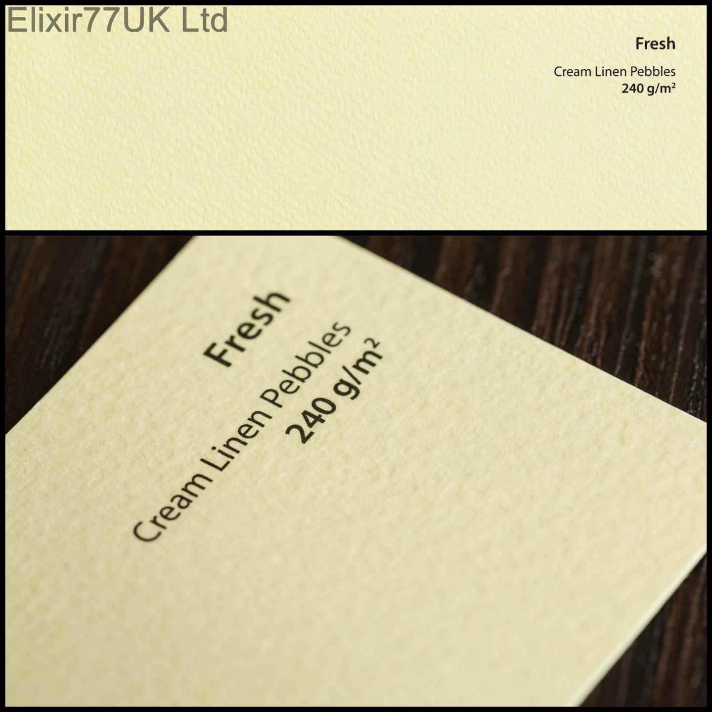 A4 or A5 Craft Paper Card White Cream Linen Smooth Textured Hammered ...