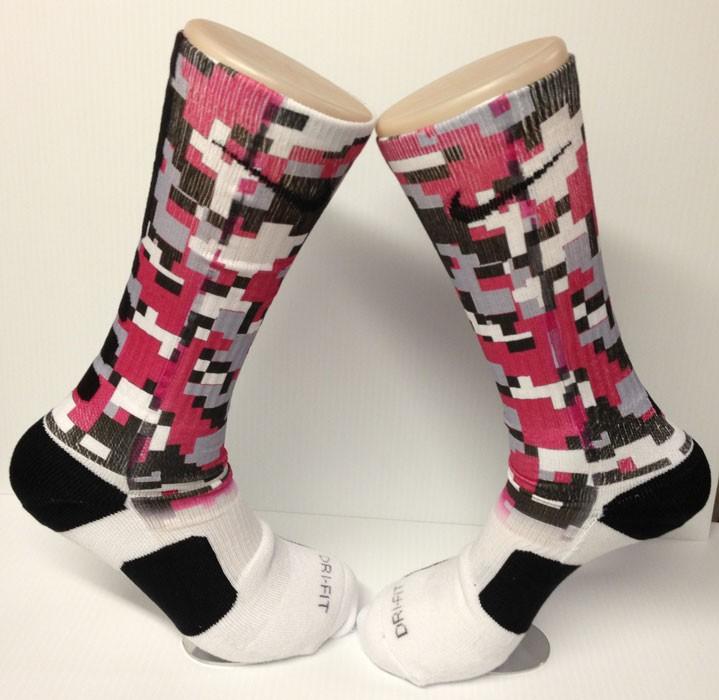 custom digital camo red nike elite socks ebay