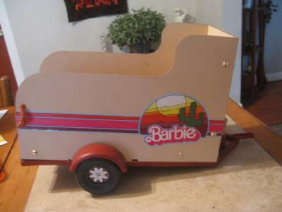 Vintage Barbie Horse Trailer and 2 Horses