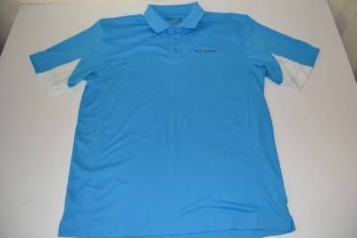 Cutter buck golf the players tpc blue dry fit polo shirt for Cutter buck polo shirt size chart