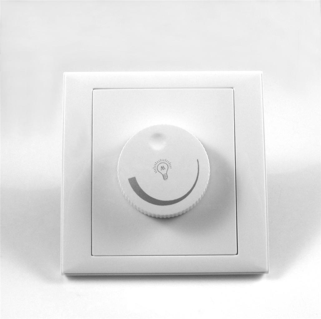 dimmer control wall 1 gang rotary for gu10 e27 lamps led light switch max 300w ebay. Black Bedroom Furniture Sets. Home Design Ideas