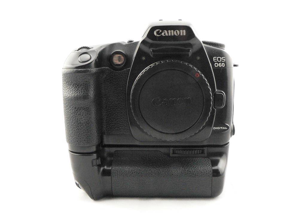 canon eos d60 6 3 mp slr canon bg ed3 grip tested good working condition ebay. Black Bedroom Furniture Sets. Home Design Ideas