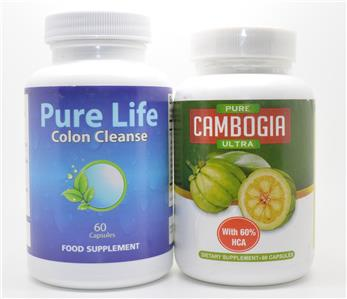 pure cambogia ultra pure life colon cleanse weight loss and detox your body ebay. Black Bedroom Furniture Sets. Home Design Ideas