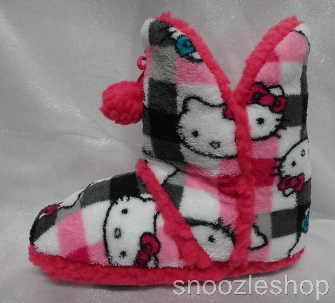 Womens-Slippers-Sanrio-Hello-Kitty-Short-Ugg-Boot-Shoe-Winter-Fluffy-Fleece-New