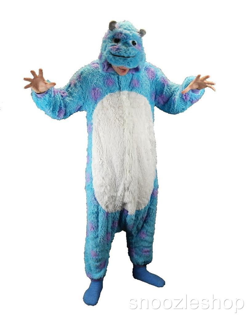 Sulley-Monsters-Inc-Adult-Animal-Kigurumi-Costume-Onesie-Jumpsuit-Hoodie-Pajama