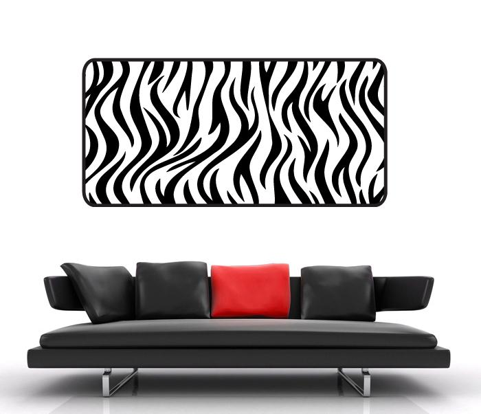 Zebra Stripes Wall Decor : Huge zebra stripe wall sticker vinyl decal print wild