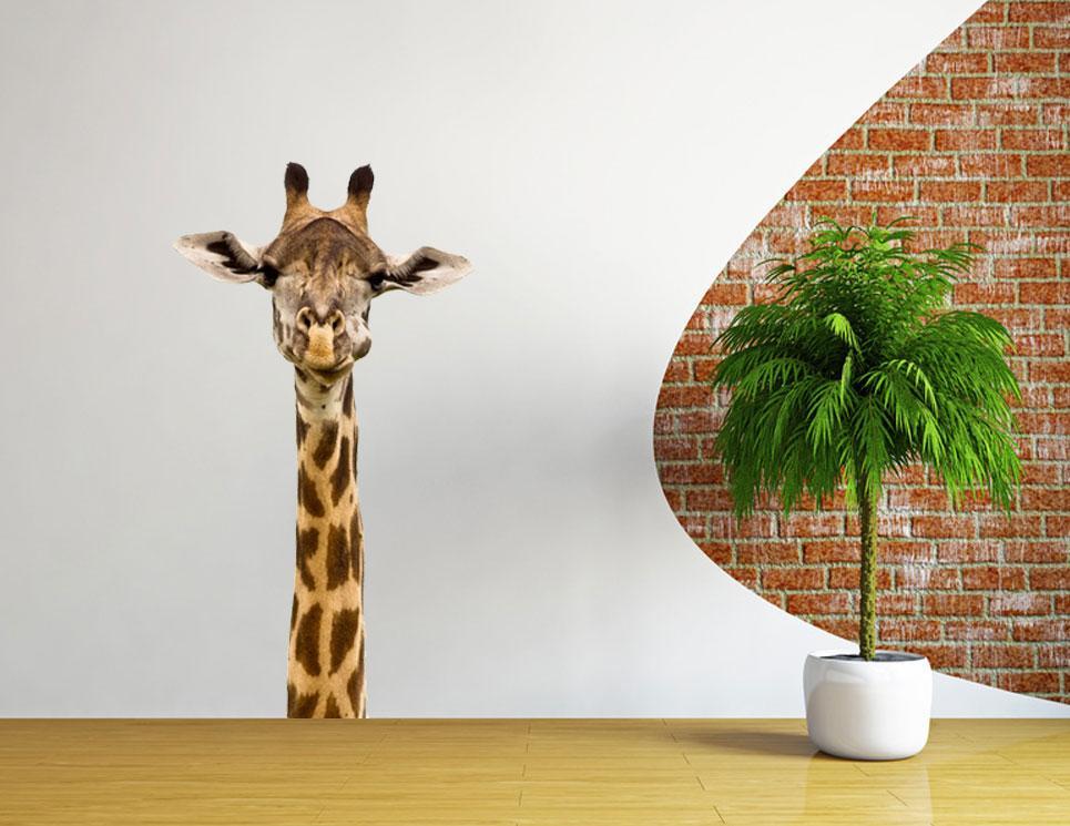 African giraffe wall decal vinyl sticker decor animal lion for Animal decoration