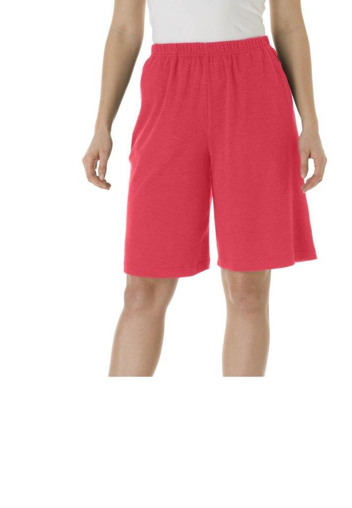 Plus Size Women's Medium Red Cotton Blend Elastic Waist ...