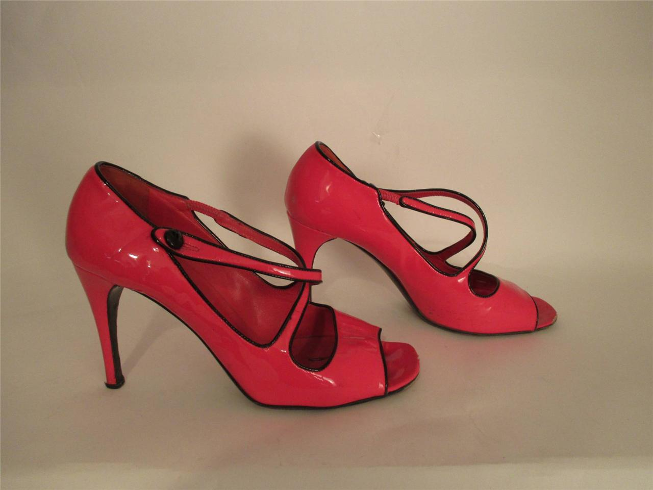 Prada-Bright-Pink-Patent-Leather-Open-Toe-Mary-Janes-SZ-37-5