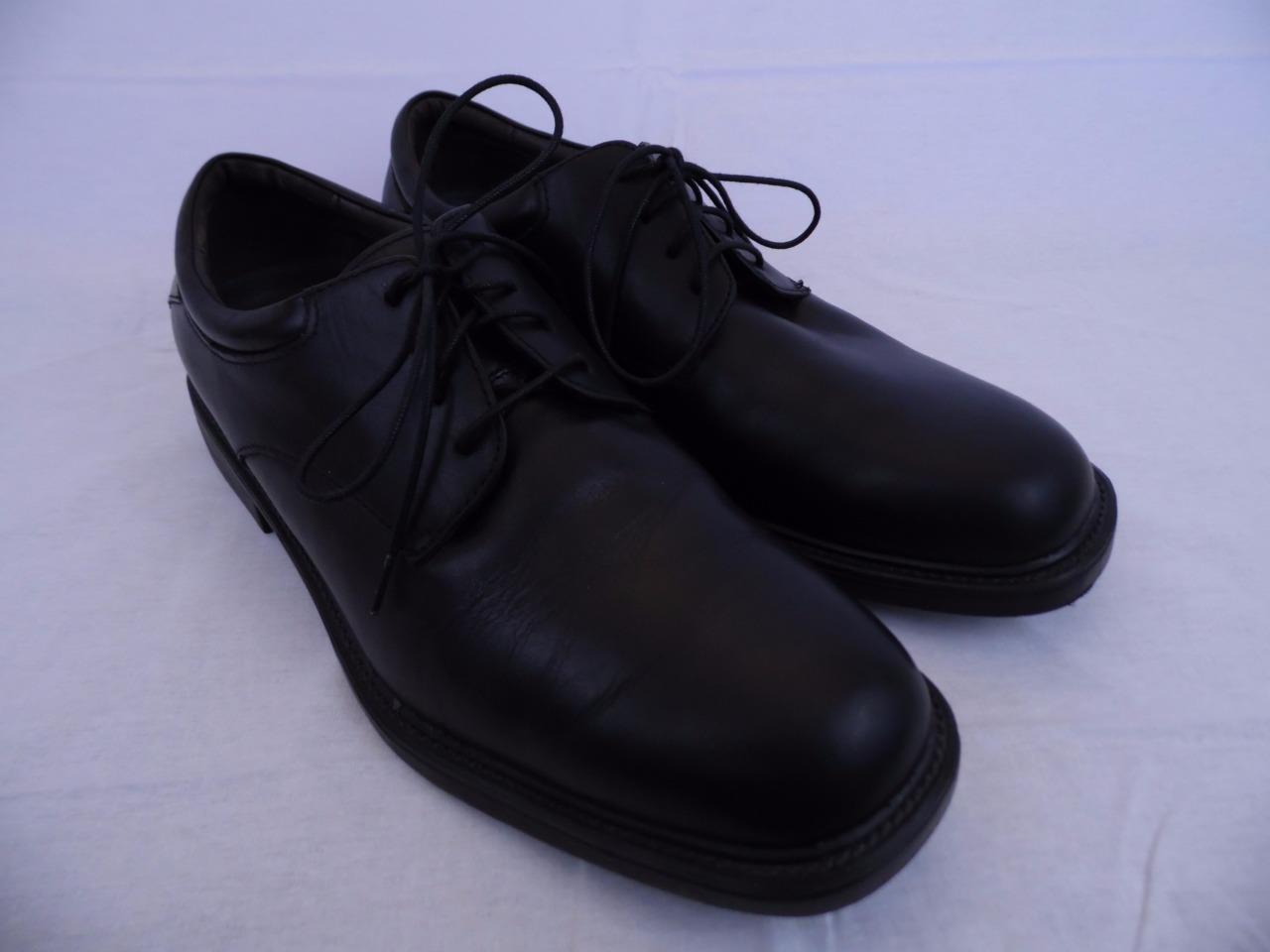 NUNN BUSH Dress Shoes Men Black Leather Size 10.5 Mens Oxford Comfort Gel Shoe