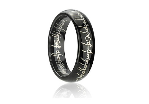 s laser engraved blacktungsten lord of the rings