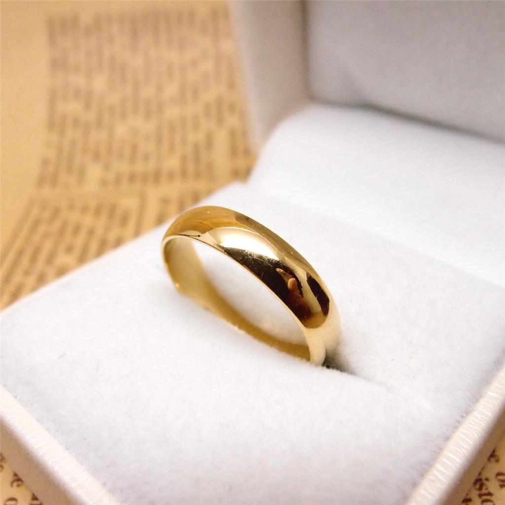 3MM~6MM 6#~12# 24K Yellow Gold Filled Classic Smooth Rings R9