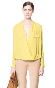 Zara Yellow Viscose Blouse 30