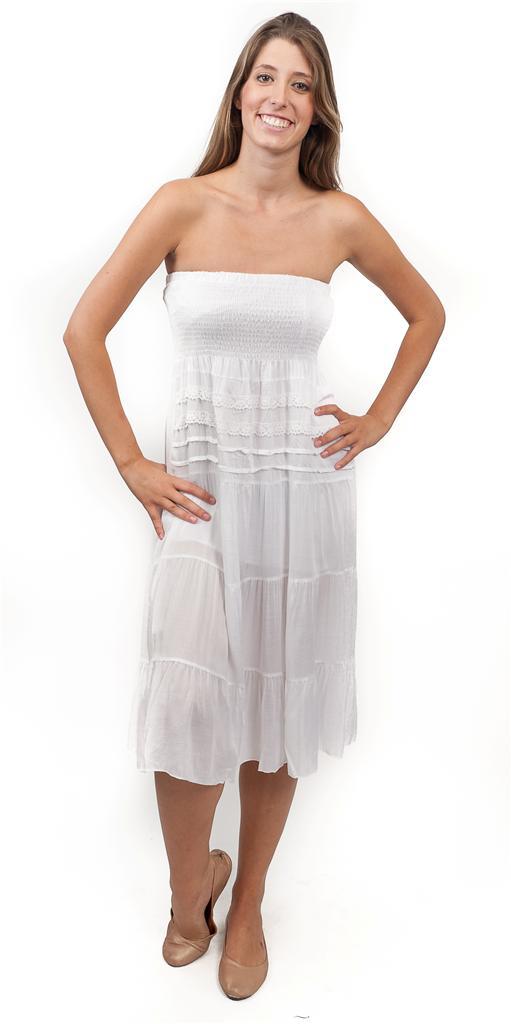 Tube top beach dress