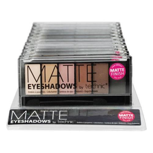 TECHNIC 6 SHADE MATTE EYESHADOW PALETTE MATTE CREAM NUDE PINK BROWN BLACK NEW