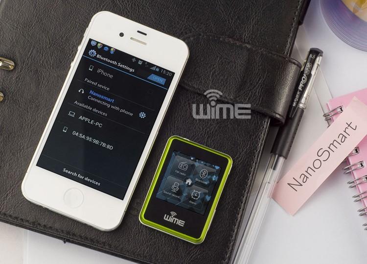 mini wime nanosmart smart watch phone armbanduhr. Black Bedroom Furniture Sets. Home Design Ideas