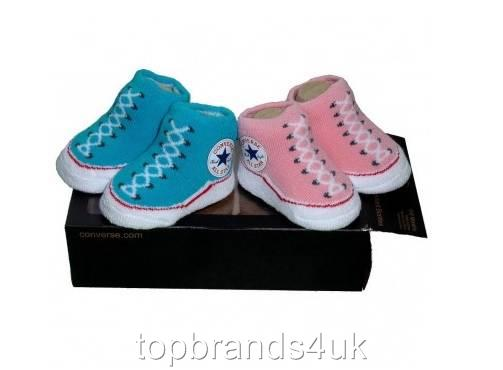 New Converse All Star Baby Toddlers Boots Socks Booties