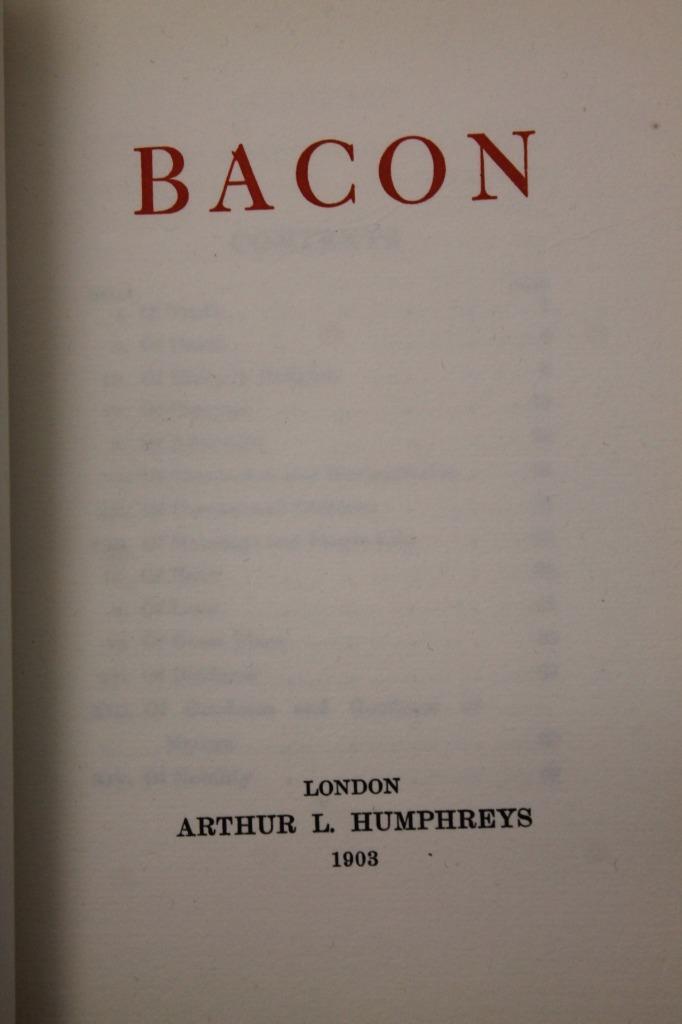 essay on sir francis bacon