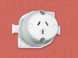 5-x-CLIPSAL-ELECTRICAL-BACK-WIRED-SURFACE-SOCKETS-5-PACK