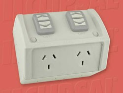 POWER-POINT-CLIPSAL-DOUBLE-WEATHERPROOF-POWER-OUTLET-RESISTANT-GREY-COLOUR