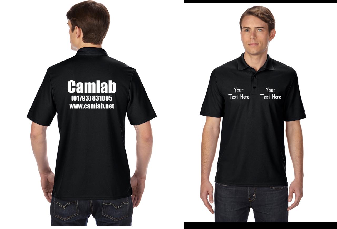 Gildan personalised custom printed polo shirts shirt work for Personalised golf shirts uk