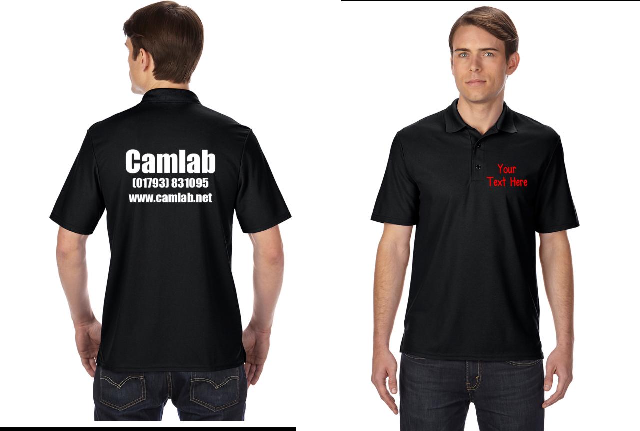 Gildan personalised custom printed polo shirts shirt work for Work uniform polo shirts