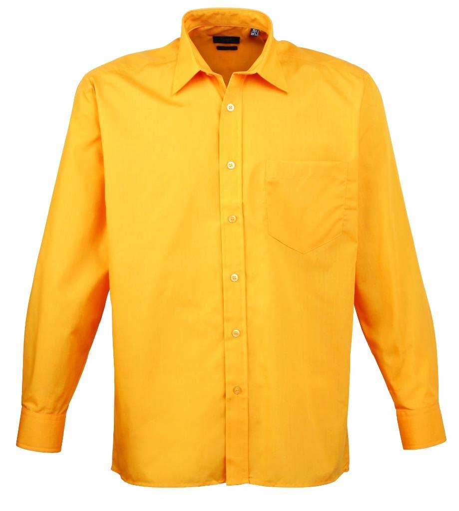 Premier long sleeve poplin work corporate business shirt for Long sleeve poplin shirt