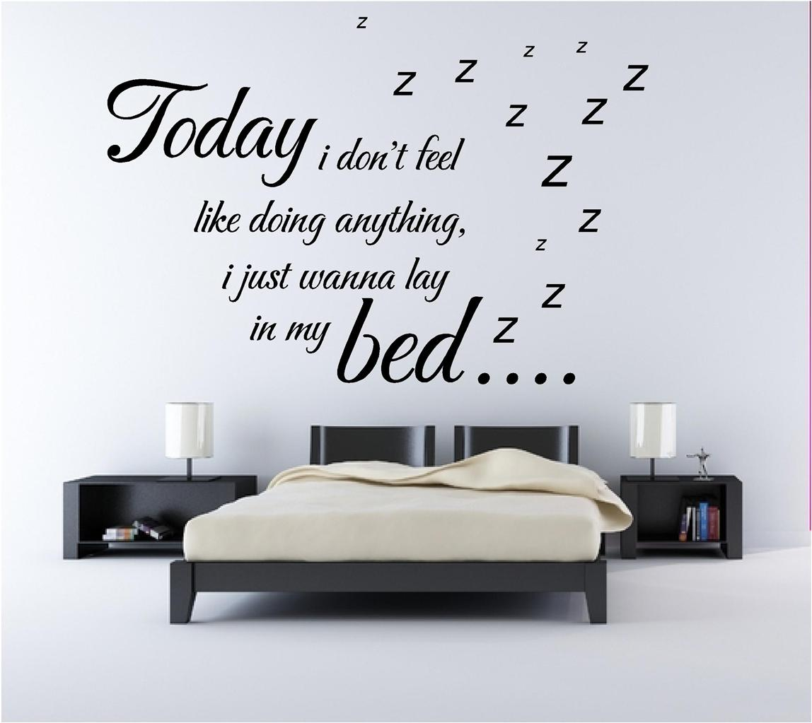 Bruno mars lazy song music lyrics quote bedroom wall art for Decoration quotes sayings