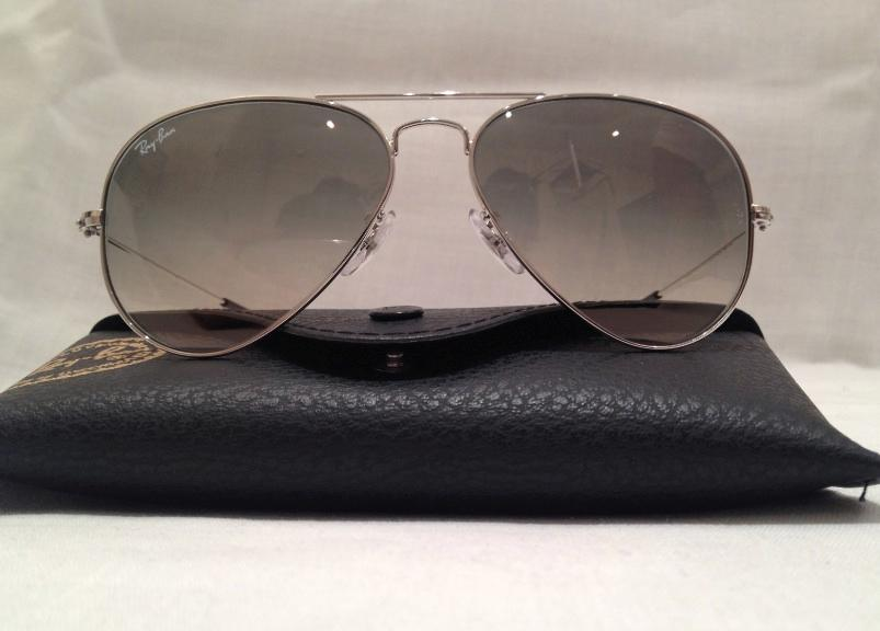men aviator sunglasses  silver/grey aviator