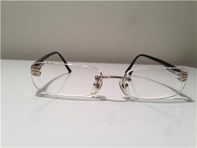 Chanel Rimless Eyeglass Frames : Authentic Chanel 2028 c127 rimless eyewear eyeglass frames ...