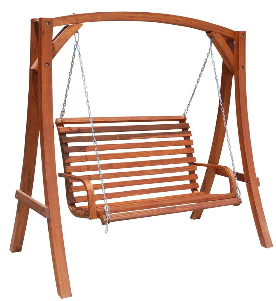 solid hardwood outdoor wooden hanging chair swing