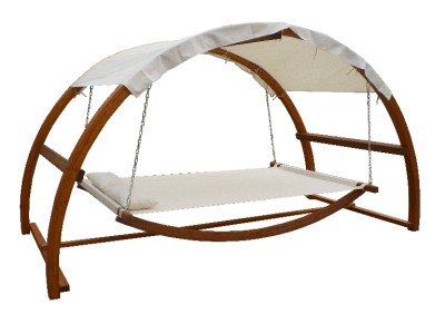 Twin Hammock With Waterproof Canopy Roof Amp Hardwood Larch