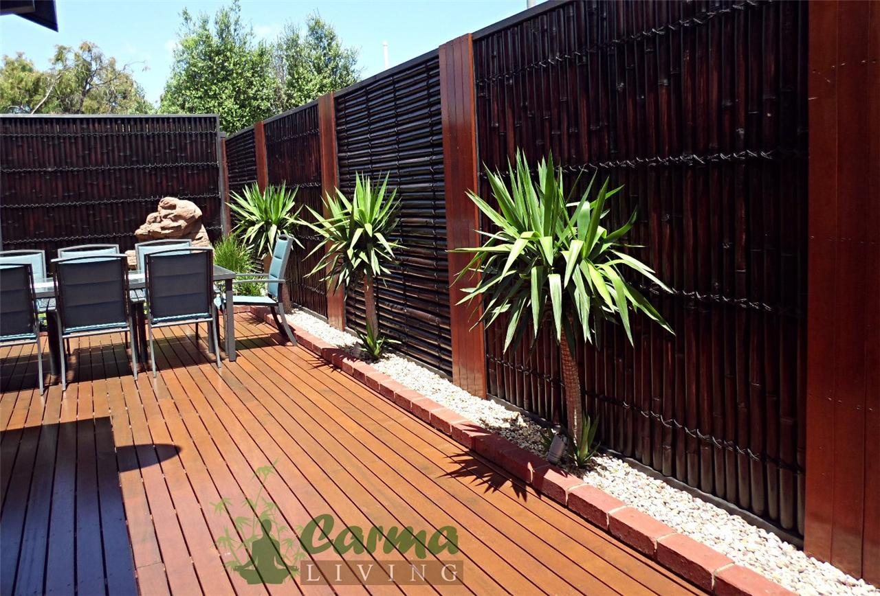 bamboo fence fencing bamboo screen 2m x 1m double lacquer heavy duty wallpaper