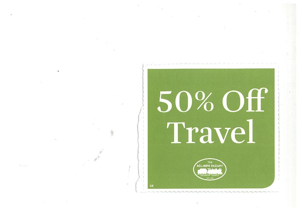 BELLARINE-RAILWAY-50-OFF-CHILDS-TICKET-VOUCHER-when-Adult-Ticket-Purchased-VIC