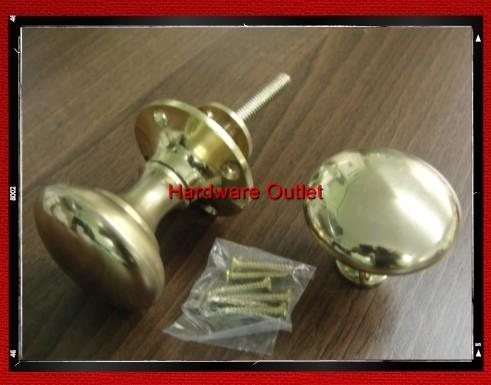 Victorian Rim Knob Set Suitable For Rim Locks Brass