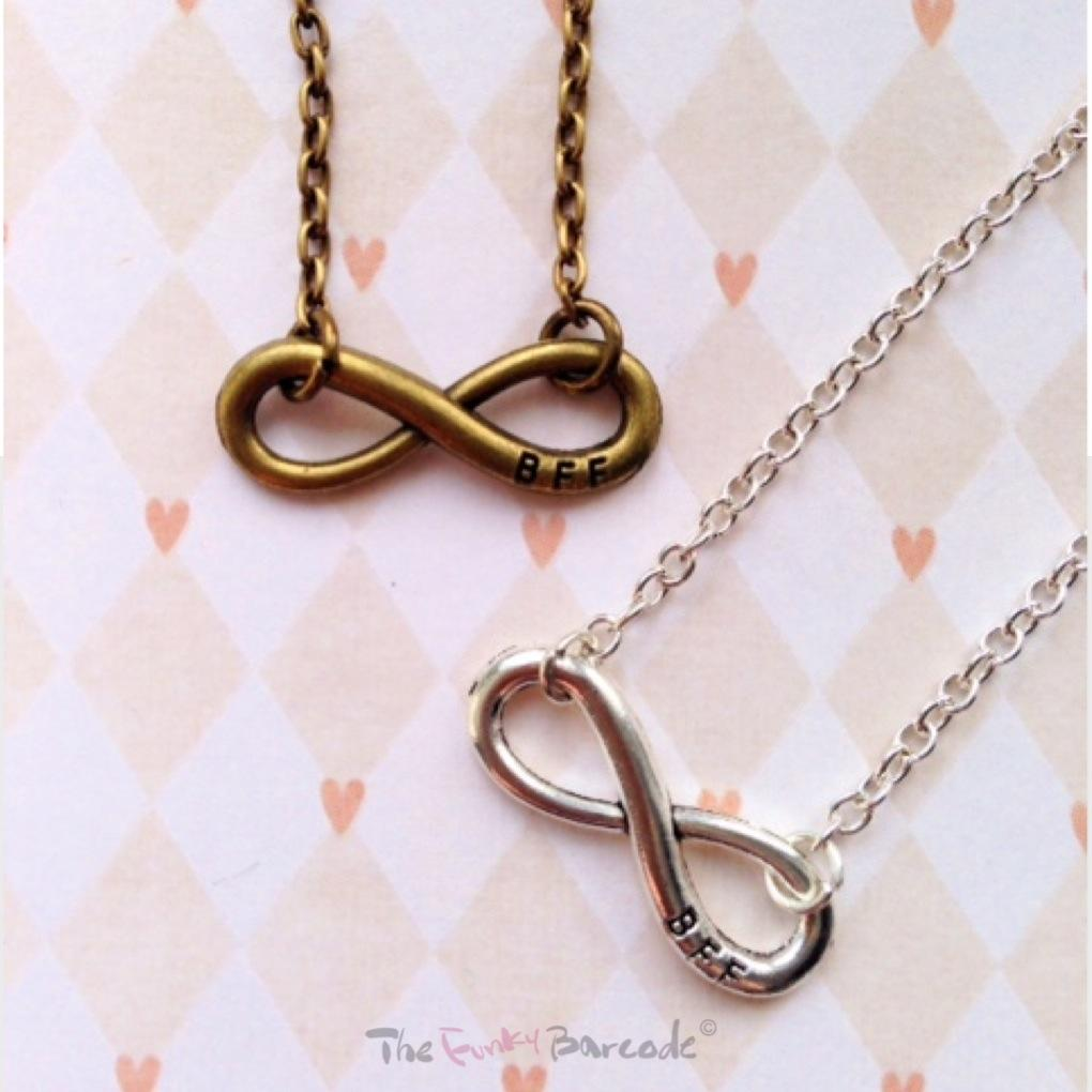 infinity best friends forever necklace funky retro