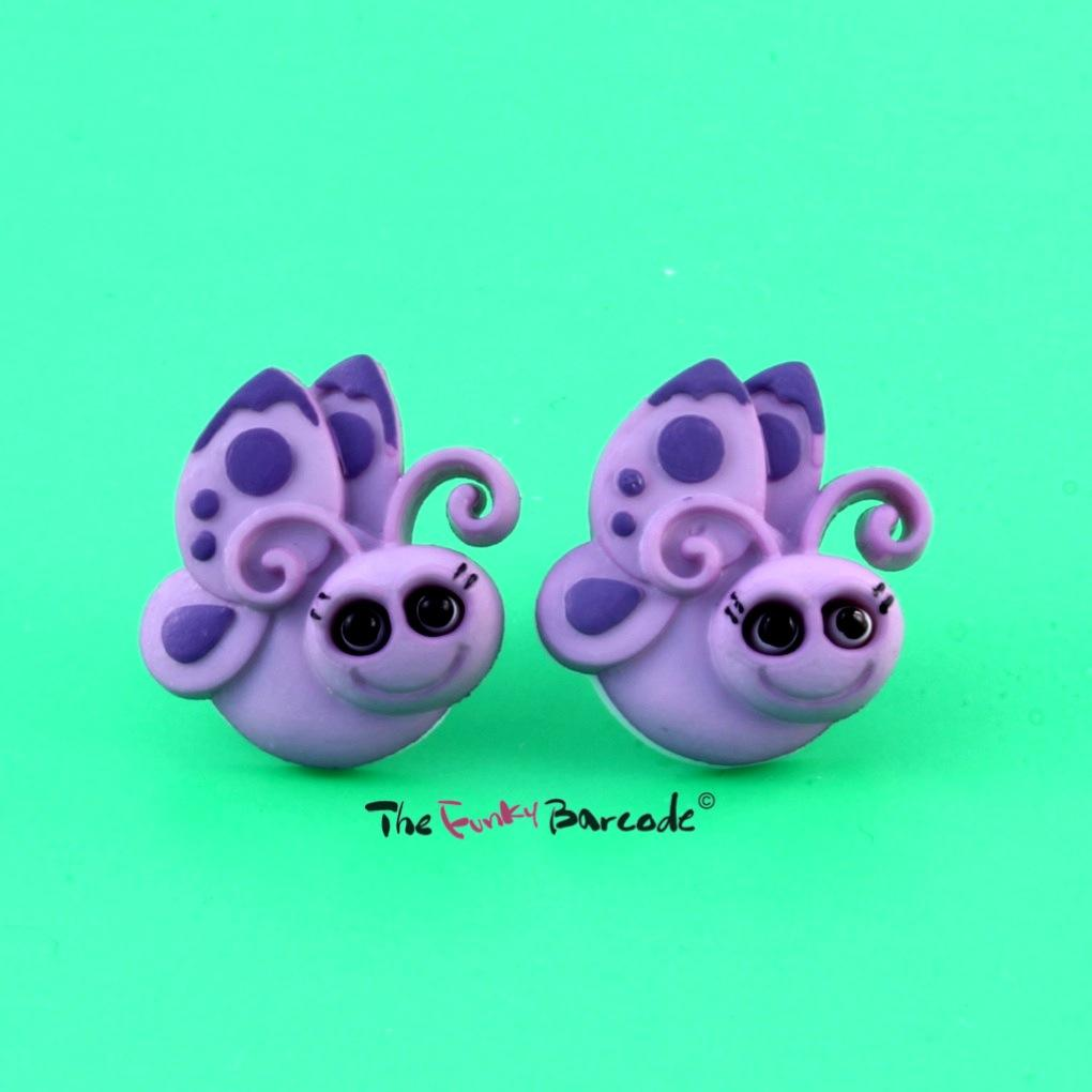 FUNKY CUTE BUG STUD EARRINGS GIRLS SWEET RETRO COOL KITSCH SMALL QUIRKY INSECT