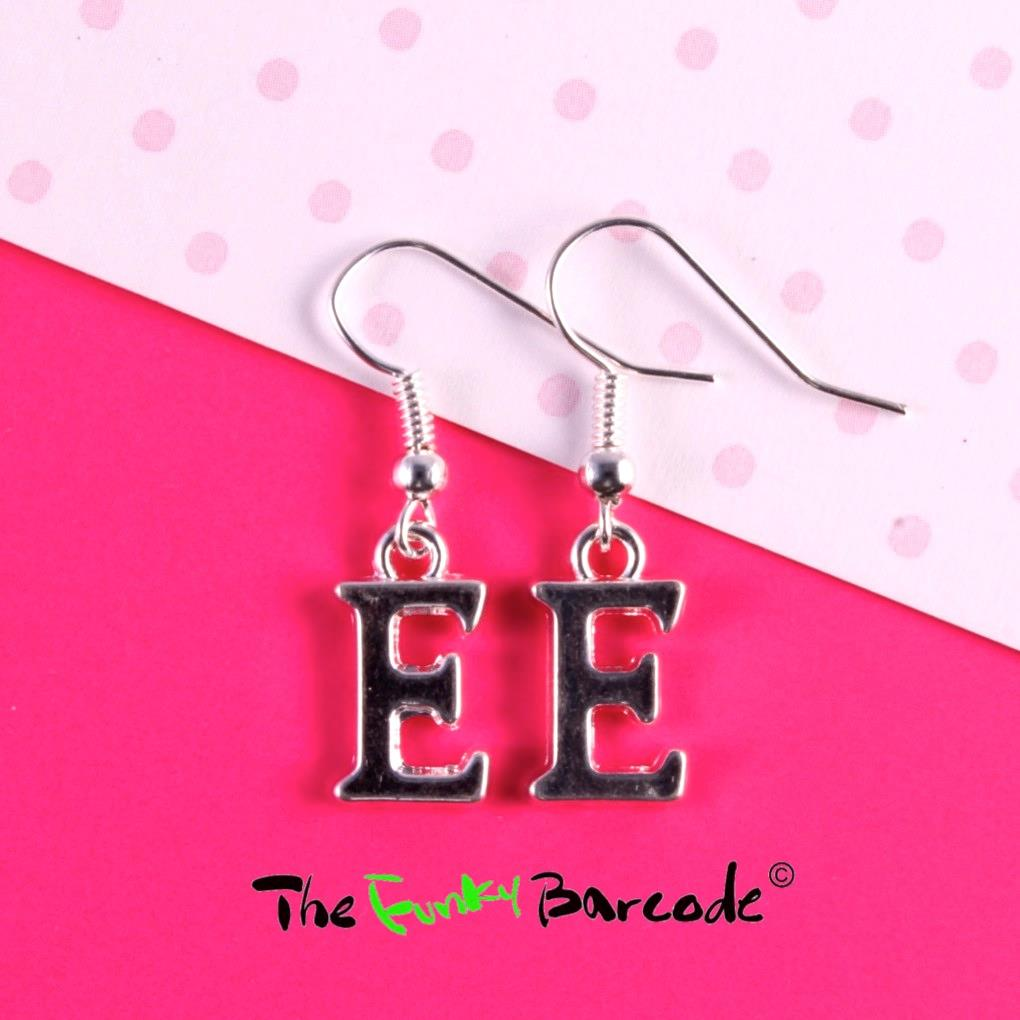 Funky initial letter girls hook earrings quirky novelty for Quirky retro gifts